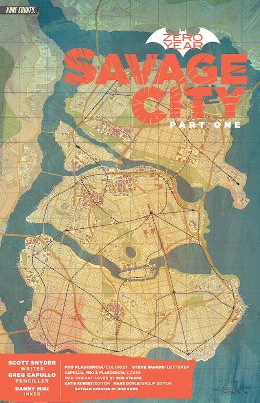 Gotham City Map Gotham City Map 2014