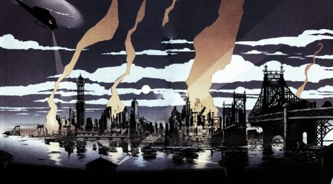 Gotham City Skyline after the earthquake leading into No Man's Land