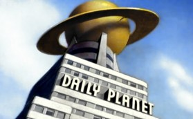 "The first appearance of the iconic Daily Planet building in the ""The Arctic Giant,"" the fourth episode of the Superman cartoon created by Fleischer Studios. Original airdate: February 26, 1942"